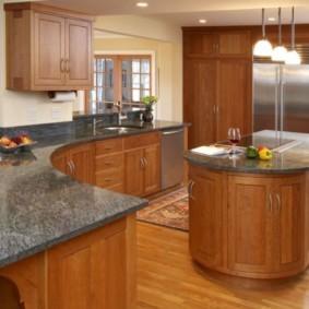 ламинат на кухне декор фото