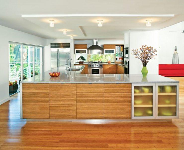 ламинат на кухне декор идеи