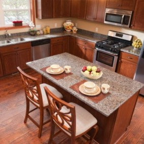 ламинат на кухне дизайн