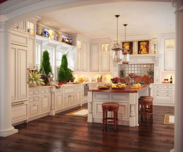 ламинат на кухне дизайн идеи