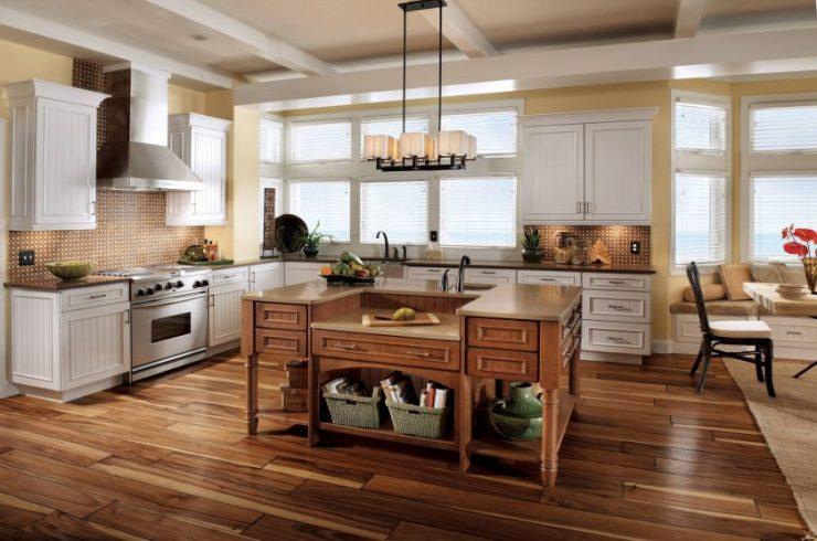 ламинат на кухне фото декор