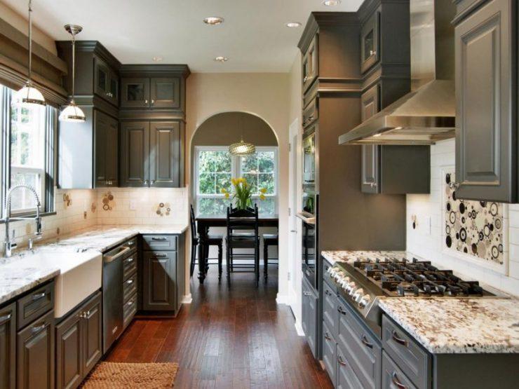 ламинат на кухне фото дизайн