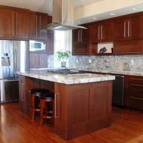 ламинат на кухне фото дизайна