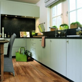 ламинат на кухне фото идеи