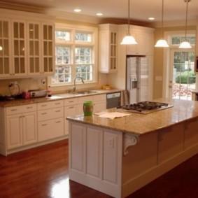 ламинат на кухне фото вариантов