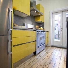 ламинат на кухне фото виды