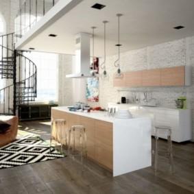 ламинат на кухне идеи дизайна