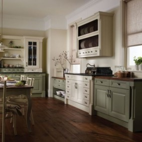 ламинат на кухне идеи интерьера