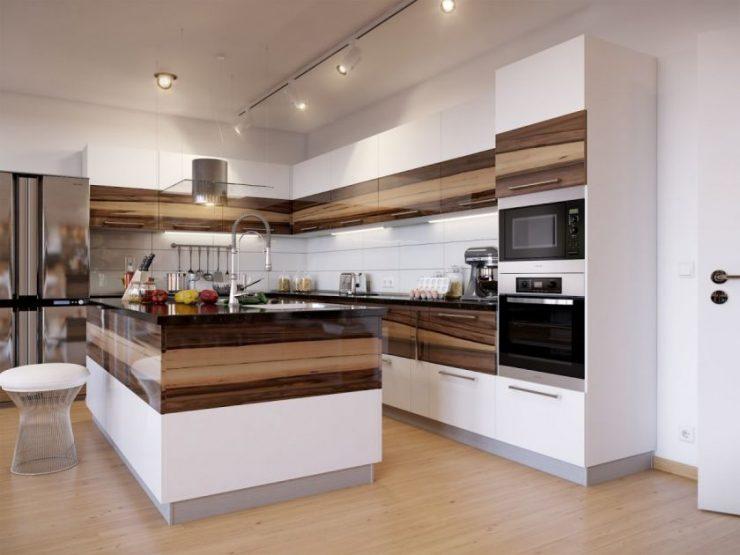 ламинат на кухне идеи видов