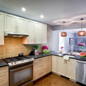 ламинат на кухне интерьер