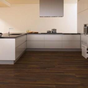 ламинат на кухне интерьер фото