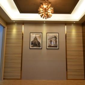ламинат на стену в прихожей декор фото