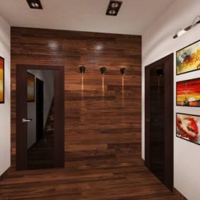 ламинат на стену в прихожей идеи интерьер