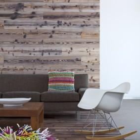 ламинат на стену в прихожей декор