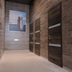 ламинат на стену в прихожей фото декор