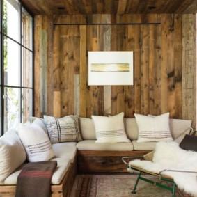 ламинат на стену в прихожей фото дизайна