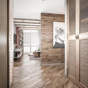 ламинат на стену в прихожей фото оформление
