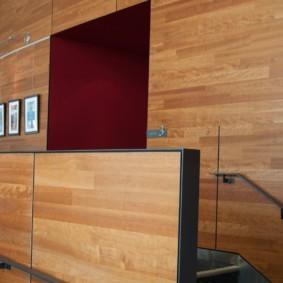 ламинат на стену в прихожей идеи декора