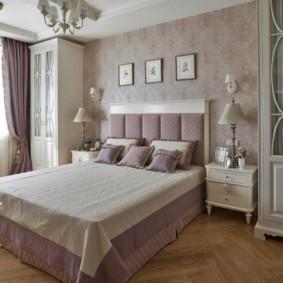 спальня в стиле неоклассика ламинат