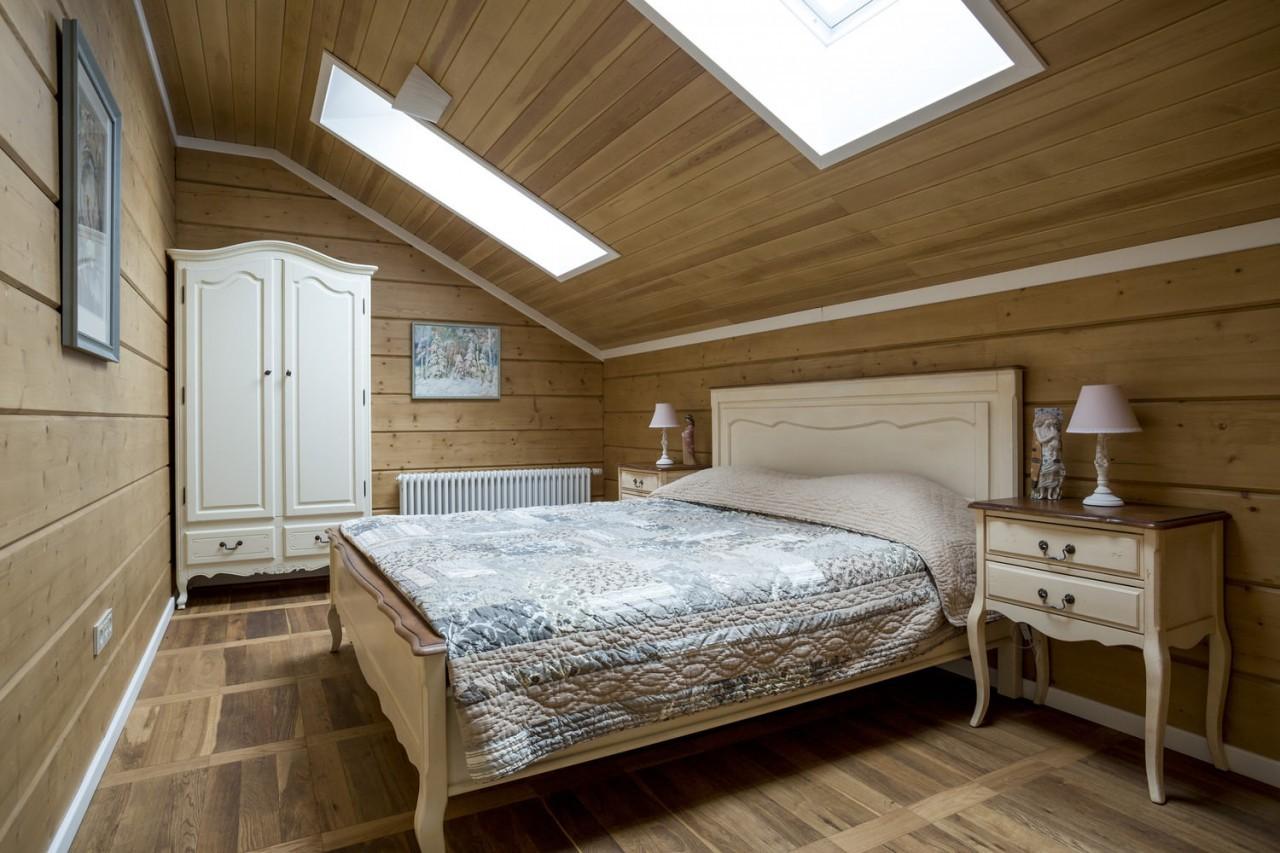 дизайн спальни 12 кв м кантри