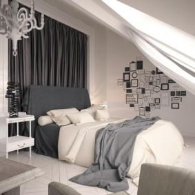 мансардная спальня фото интерьера