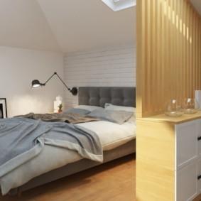мансардная спальня фото вариантов