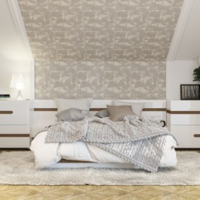 мансардная спальня фото виды