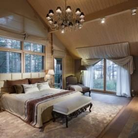 мансардная спальня идеи оформления