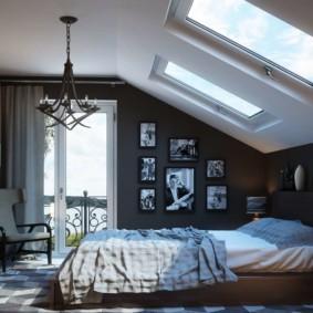 мансардная спальня идеи видов
