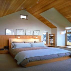 мансардная спальня виды фото