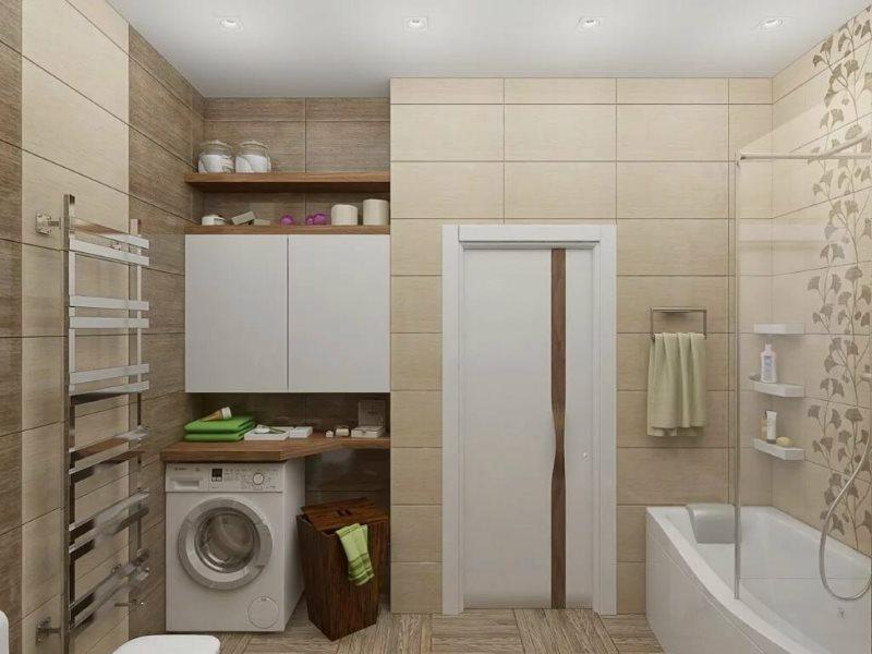 Постирочная в ванной совмещенного типа