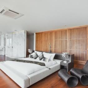 спальня в стиле хай тек мебель