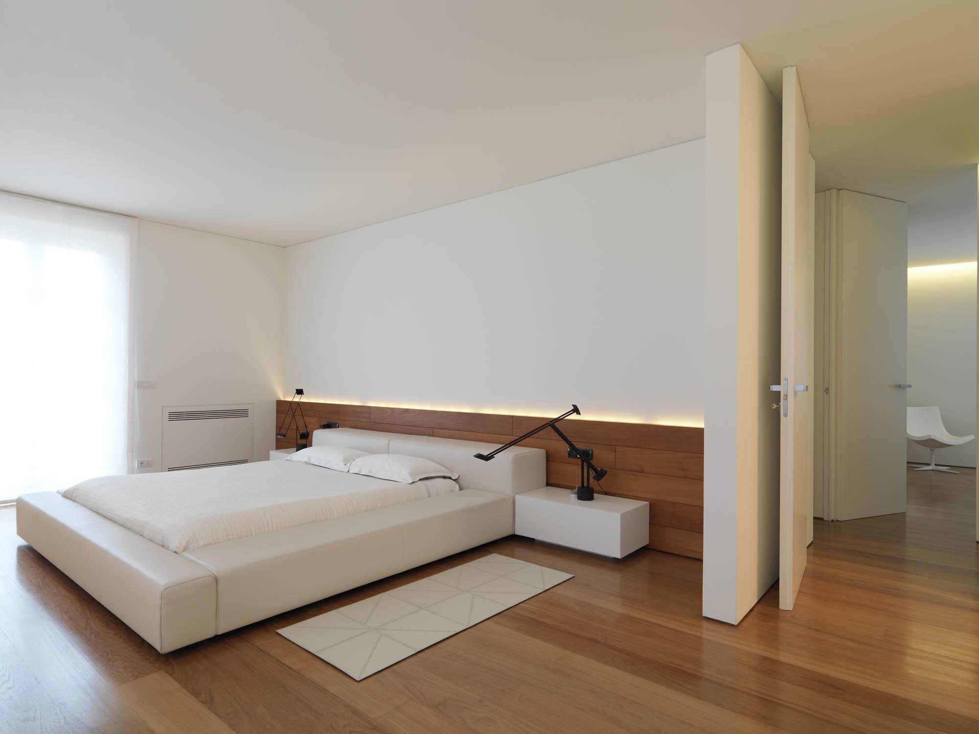 спальня в стиле минимализм мебель