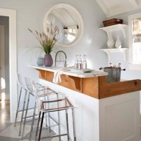 барные стулья для кухни оформление