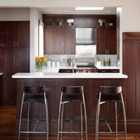 барные стулья для кухни оформление фото