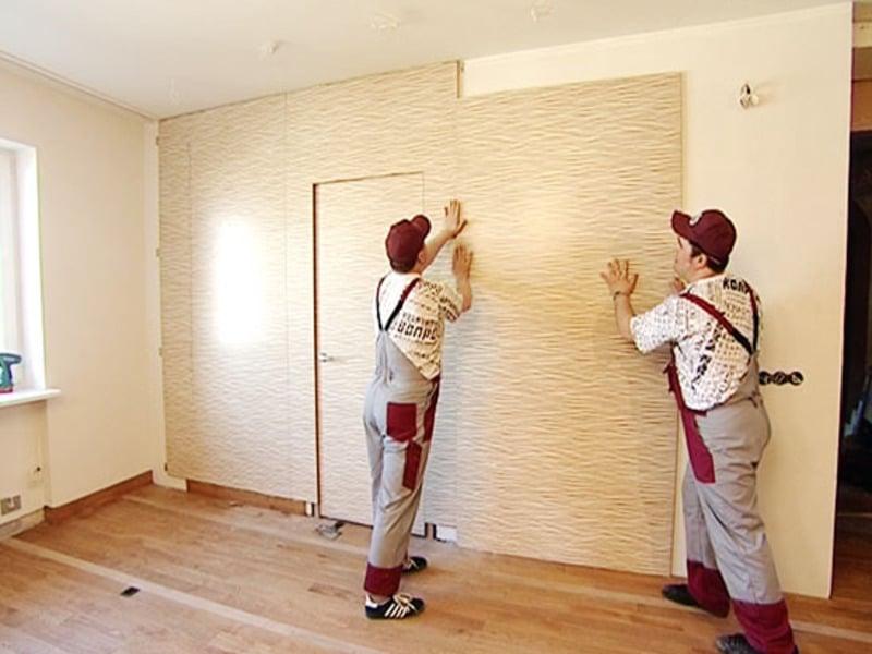 Монтаж листов МДФ на кухонные стены
