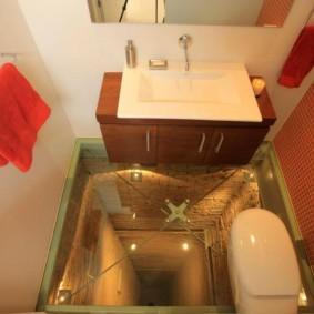 3d пол с изображением шахты лифта