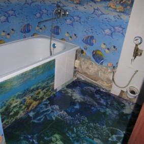 Морская тематика в интерьере ванной комнаты