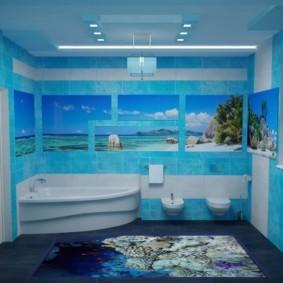 Дизайн ванной с подвесной сантехникой