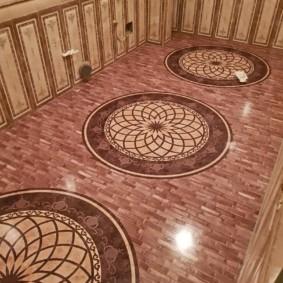 Дизайн пола для ванной в классическом стиле
