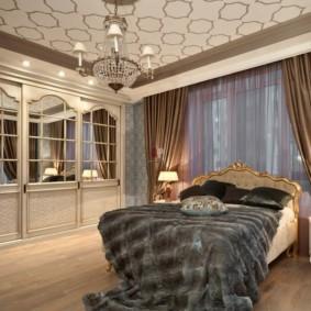 спальня в стиле неоклассика напольное покрытие