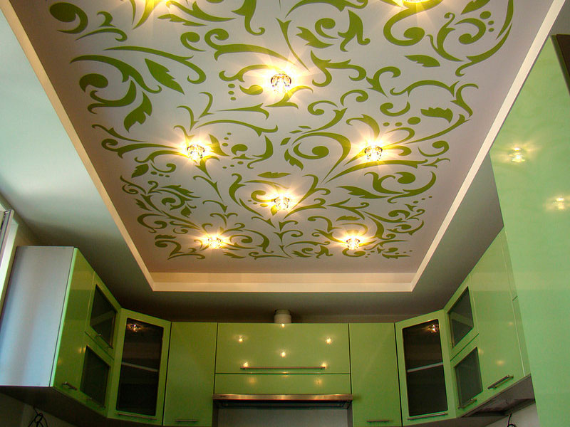 Подбор орнамента на натяжном потолке под фасады