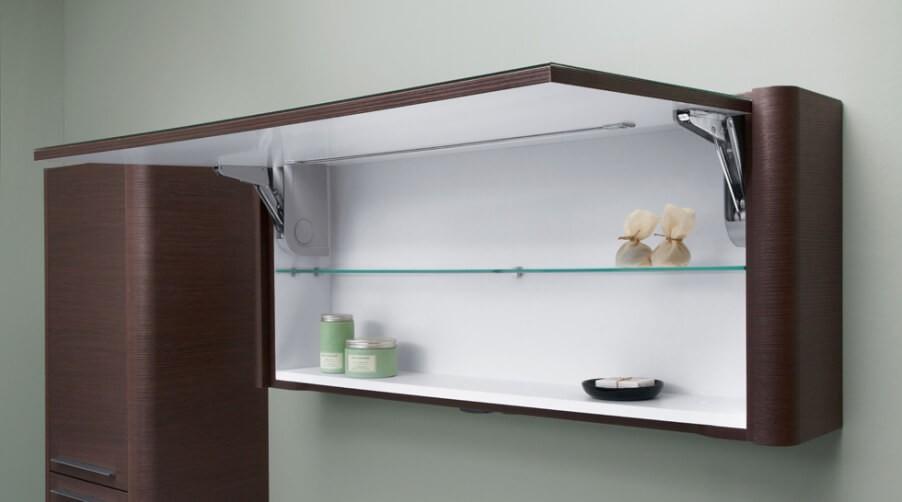 навесной шкаф в ванную декор фото