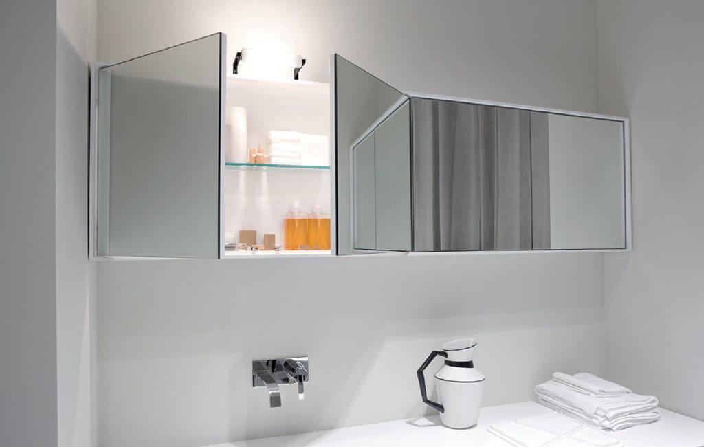 навесной шкаф в ванную декор идеи