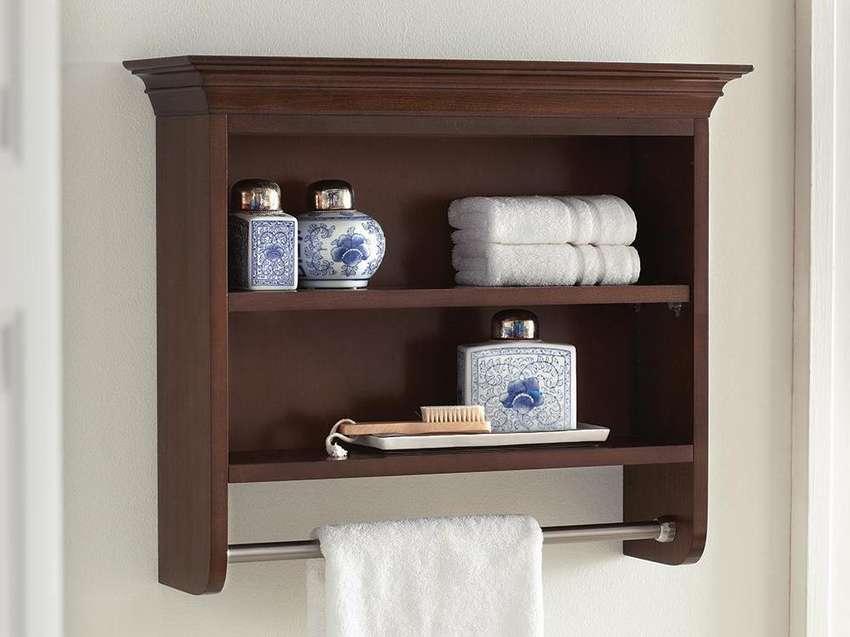 навесной шкаф в ванную фото декора