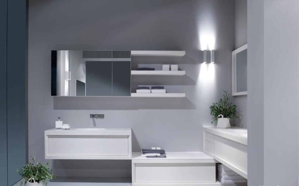 навесной шкаф в ванную фото