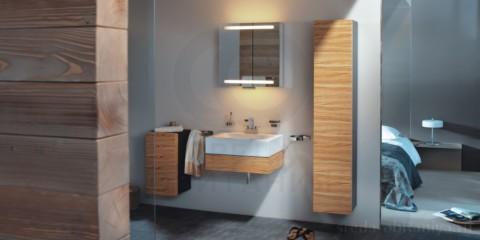 навесной шкаф в ванную интерьер
