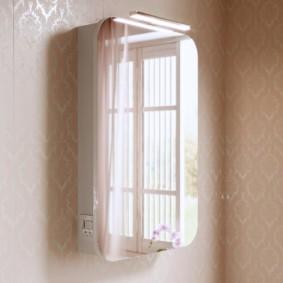 навесной шкаф в ванную декор