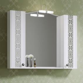навесной шкаф в ванную дизайн идеи