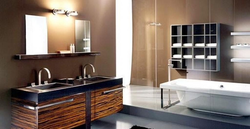 навесной шкаф в ванную дизайн